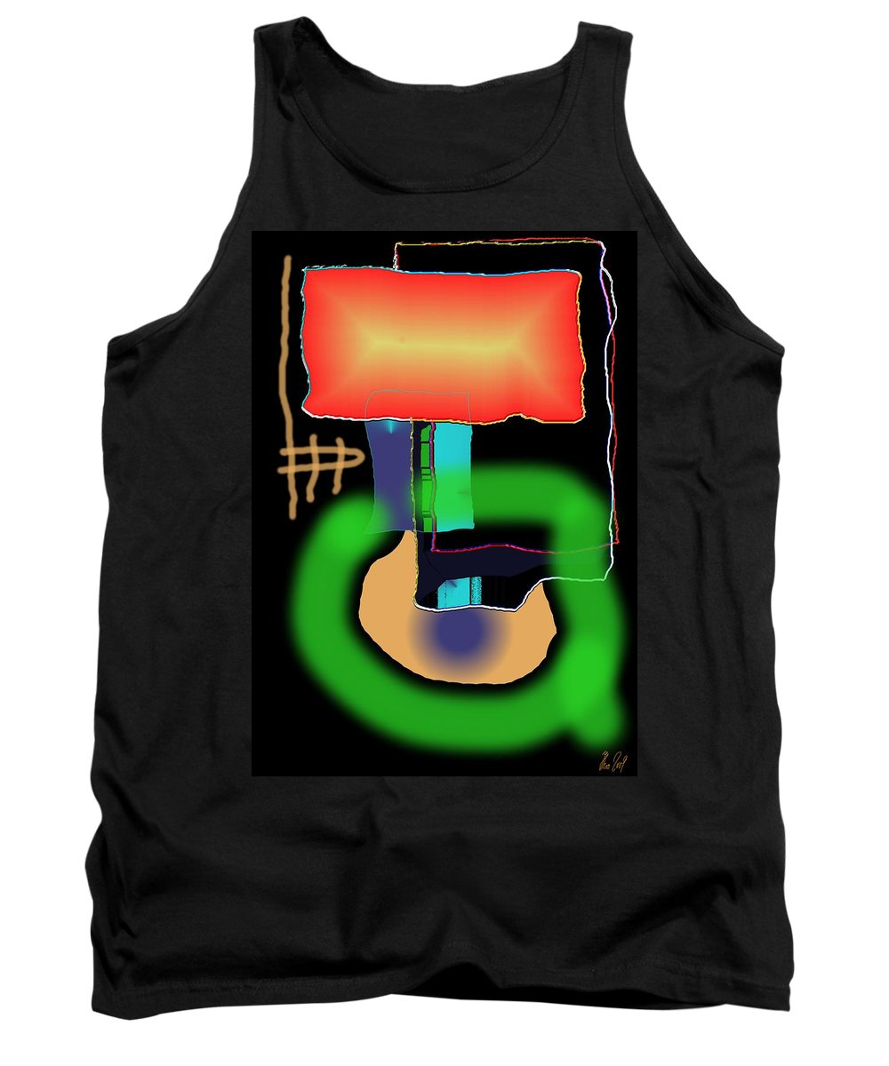 Mouse Tank Top featuring the digital art Suddenclicks by Helmut Rottler