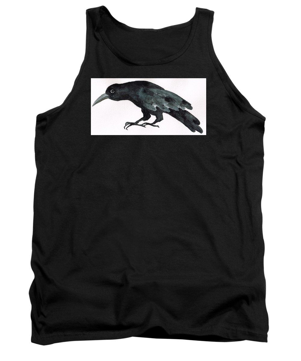 Sad Bird Tank Top featuring the painting Sulky Bird by Janremi B