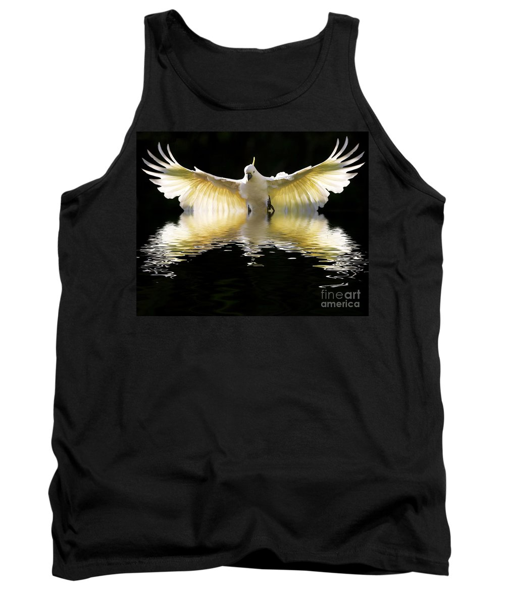 Bird In Flight Tank Top featuring the photograph Sulphur Crested Cockatoo Rising by Sheila Smart Fine Art Photography