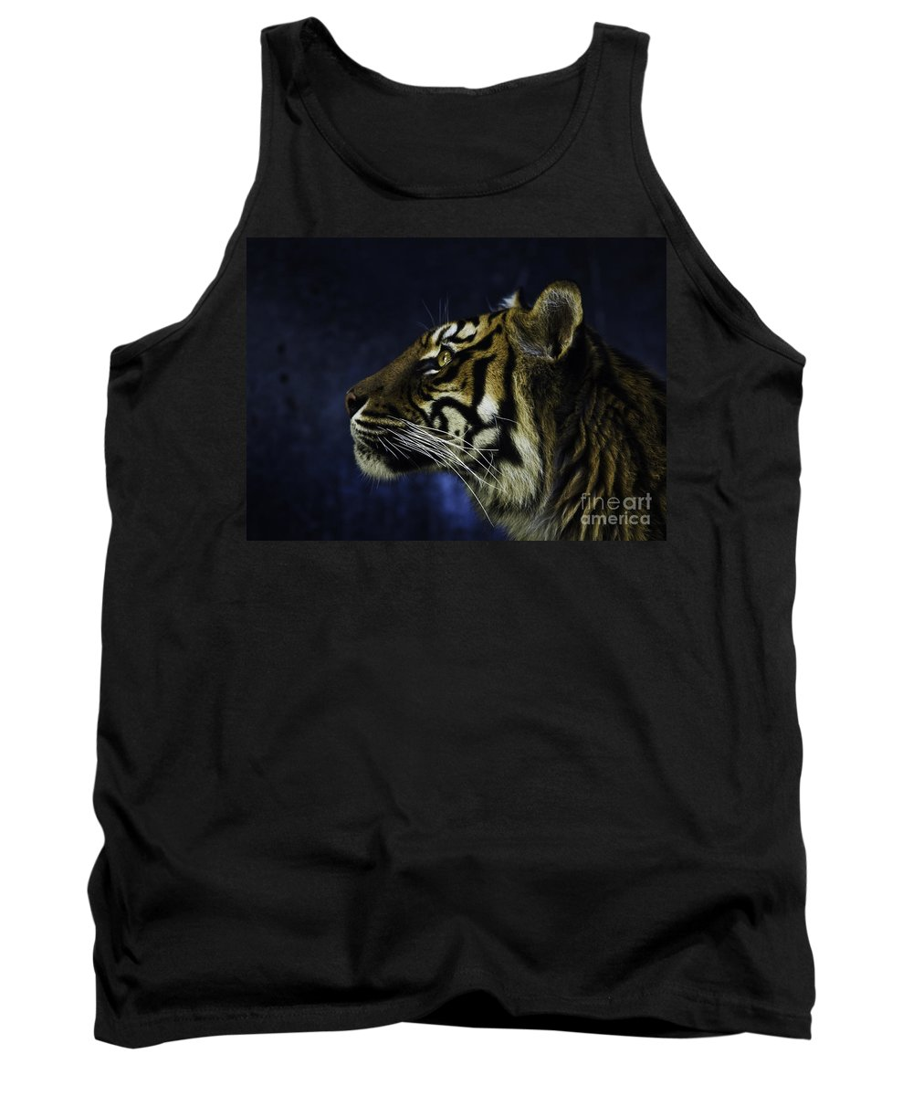 Sumatran Tiger Tank Top featuring the photograph Sumatran Tiger Profile by Avalon Fine Art Photography