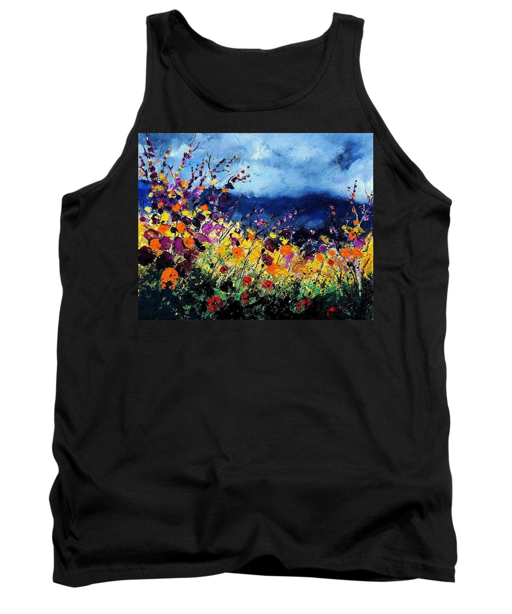 Poppy Tank Top featuring the painting Summer 45 by Pol Ledent
