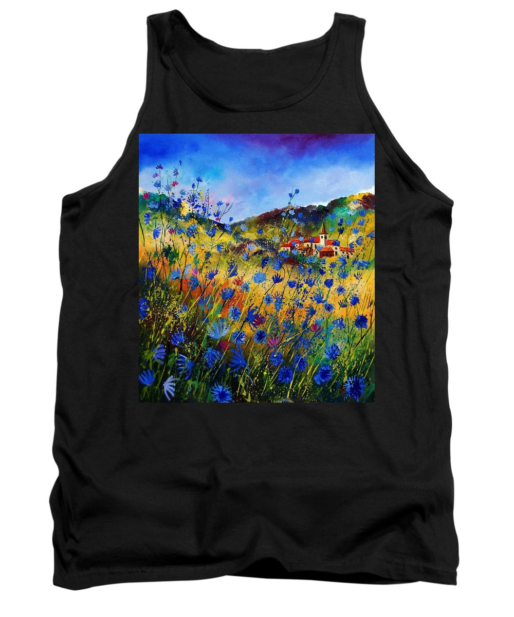 Flowers Tank Top featuring the painting Summer Glory by Pol Ledent