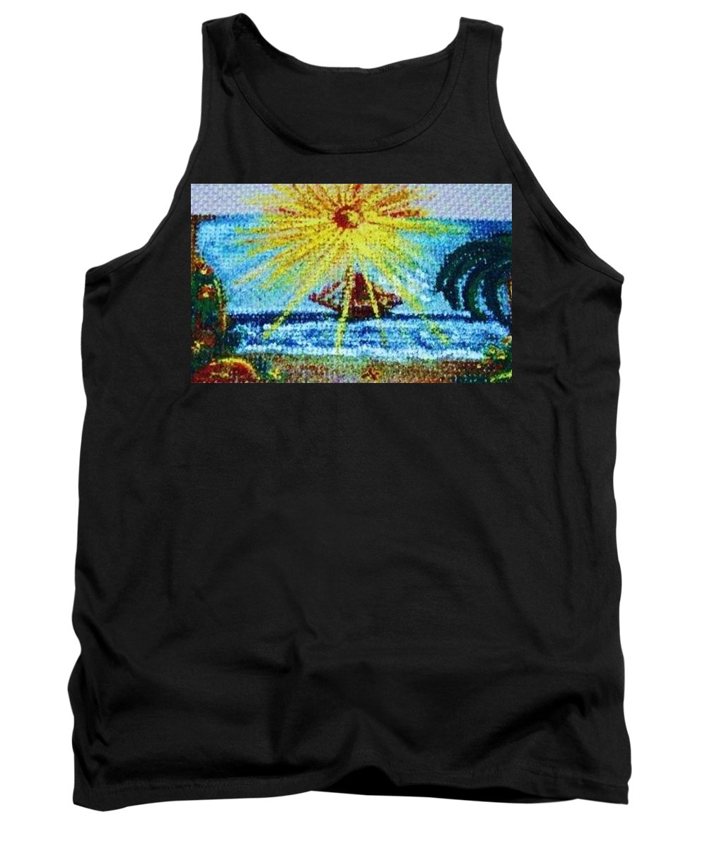 Saison Tank Top featuring the painting Summer by Nila Poduschco