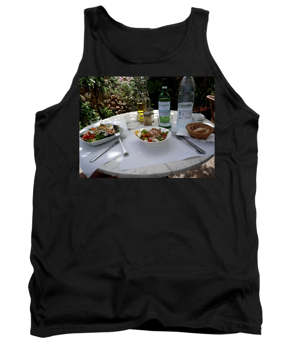 Lunch Tank Top featuring the photograph Summer Salad by Charles Stuart