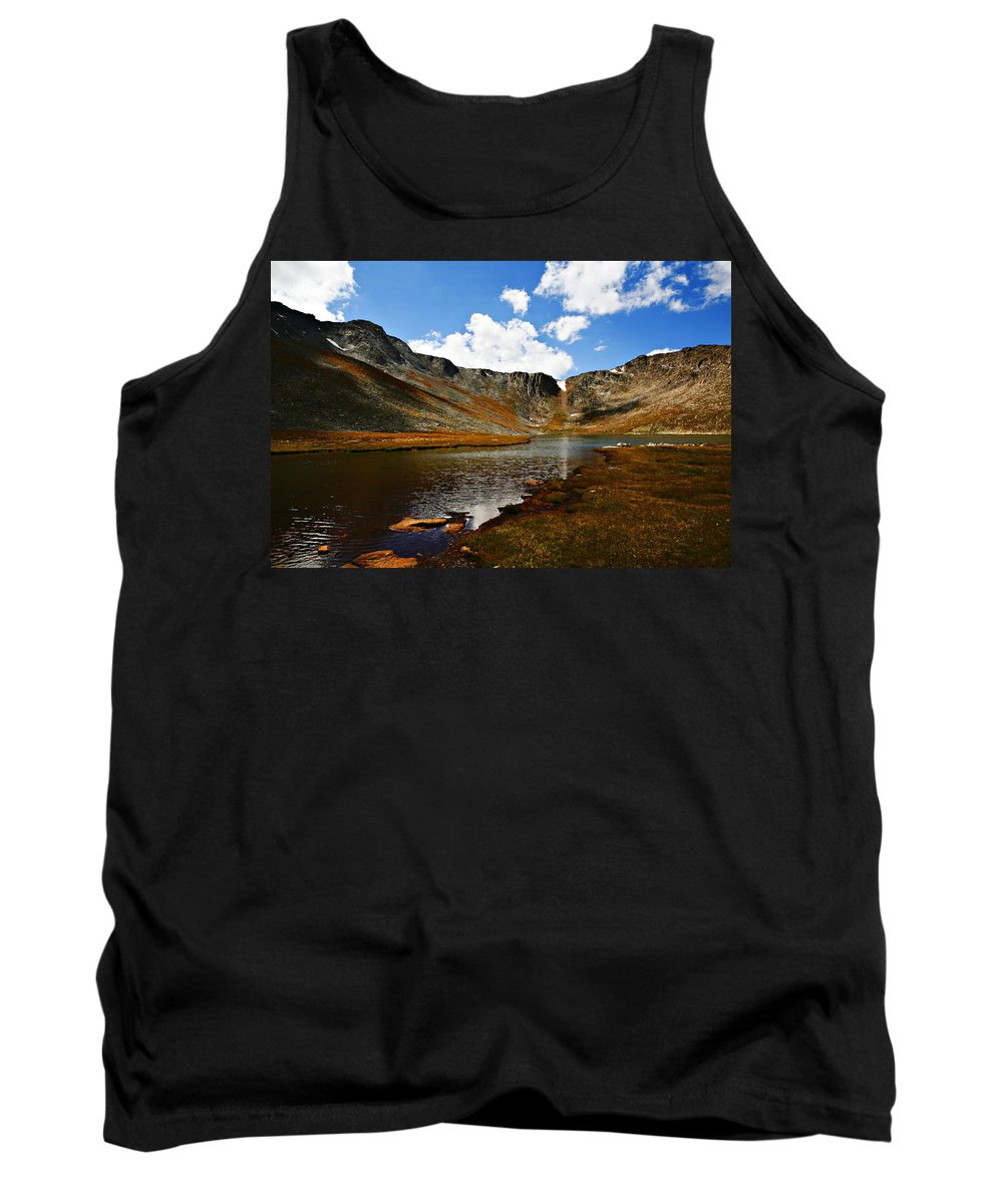 Travel Tank Top featuring the photograph Summit Lake Colorado by Marilyn Hunt
