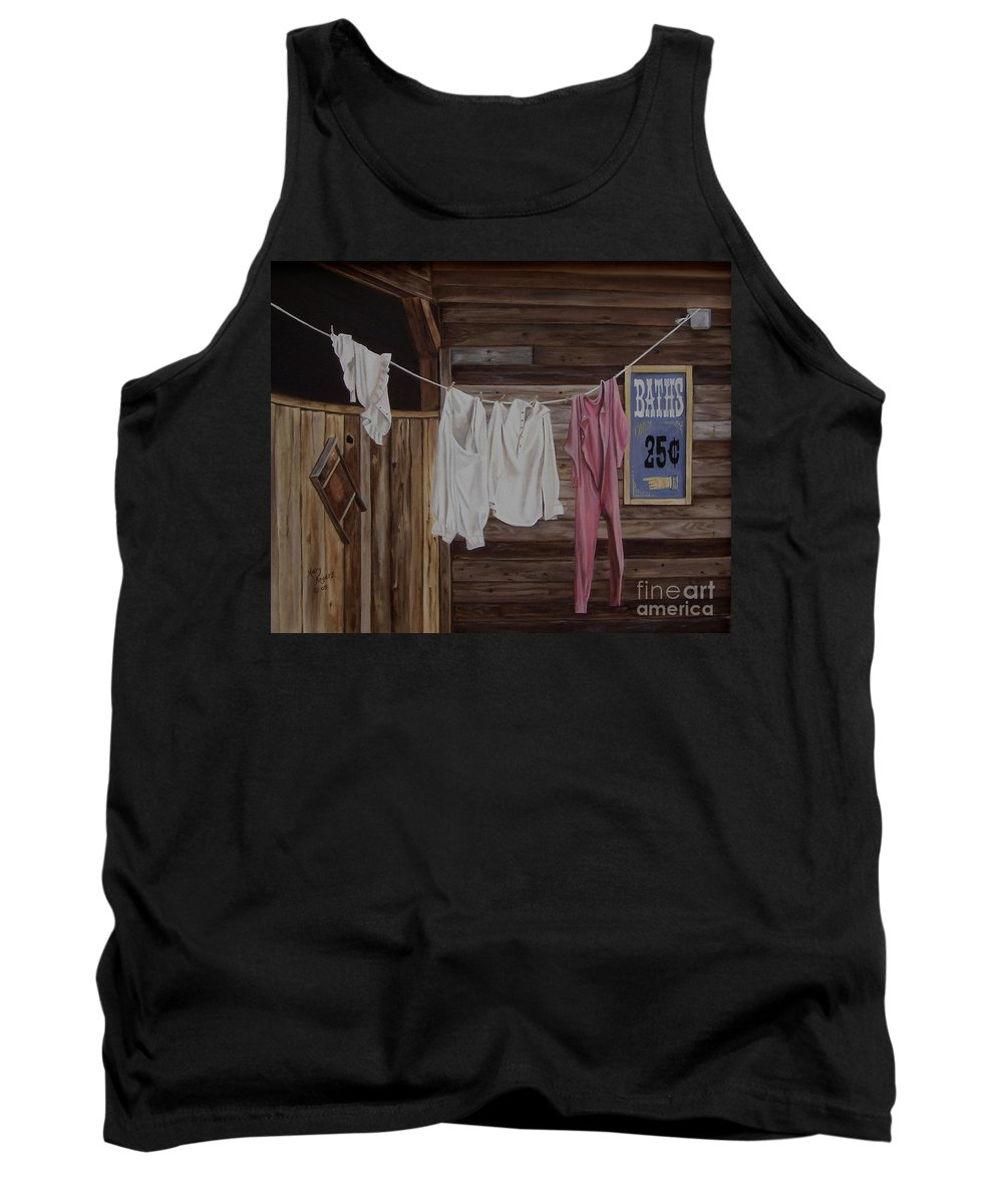 Art Tank Top featuring the painting Sun Dried by Mary Rogers