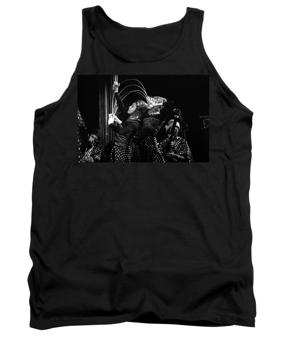 Sun Ra Tank Top featuring the photograph Sun Ra Arkestra And Dancers by Lee Santa