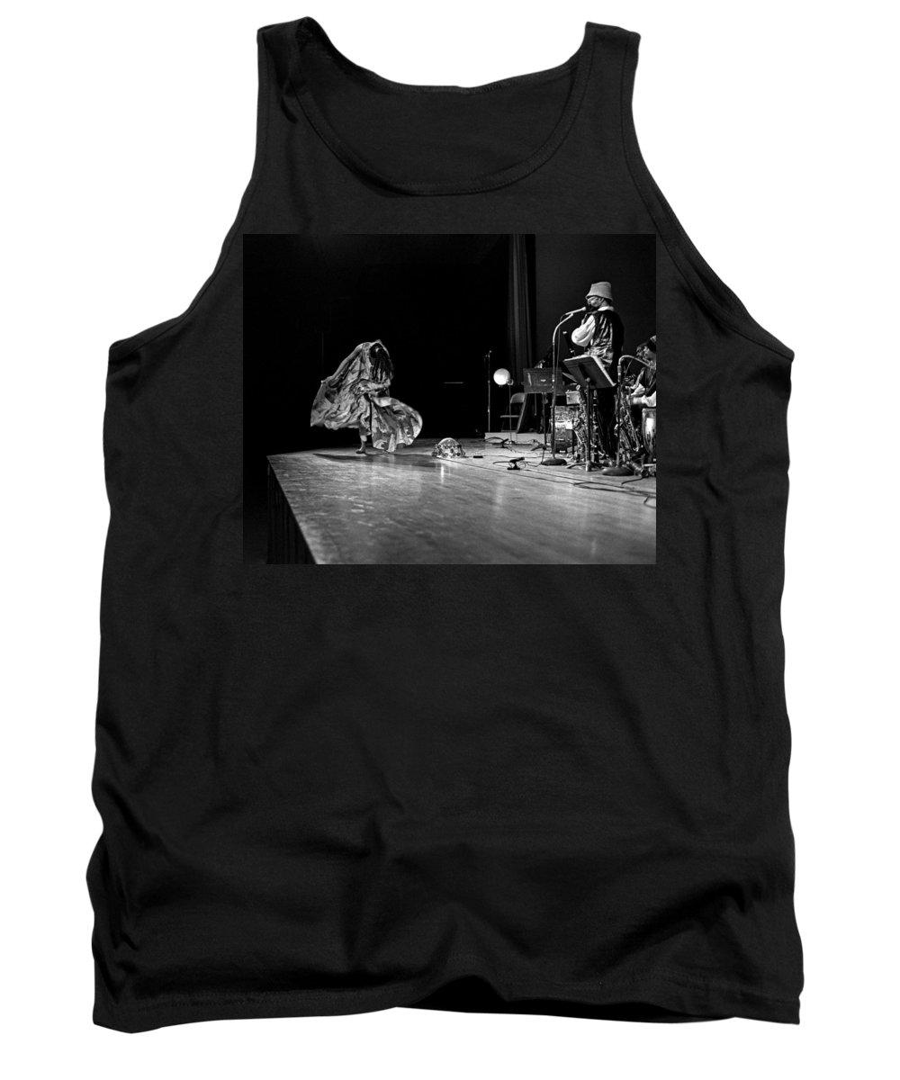 Jazz Tank Top featuring the photograph Sun Ra Arkestra At Freeborn Hall by Lee Santa