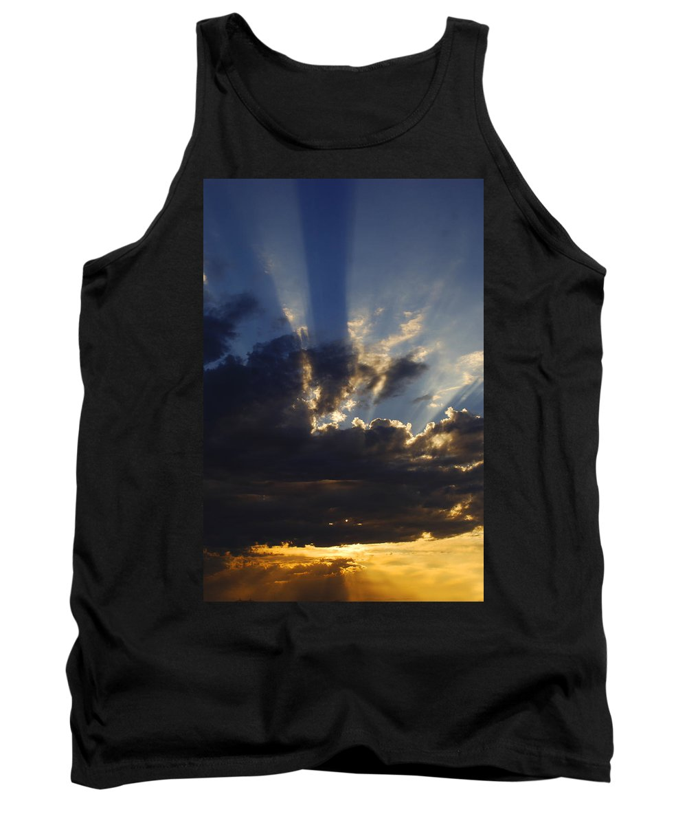 Sunset Tank Top featuring the photograph Sun Rays by Jill Reger
