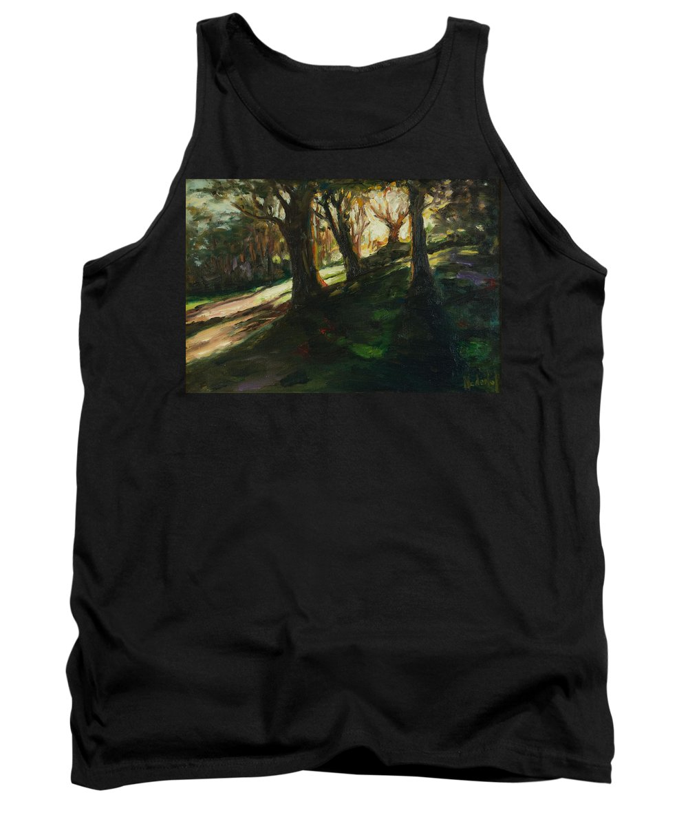 Trees Tank Top featuring the painting Sun by Rick Nederlof