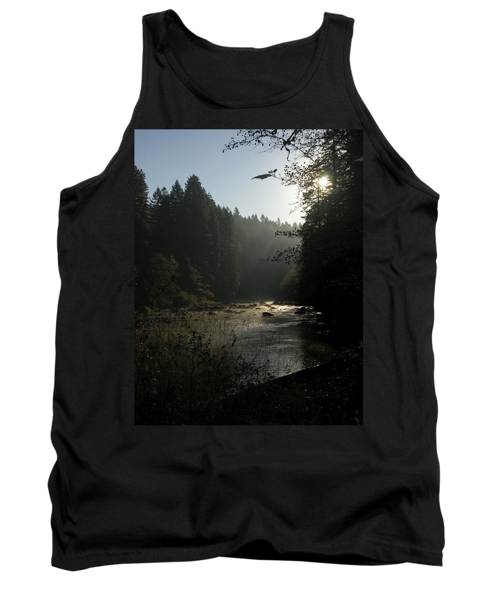 River Tank Top featuring the photograph Sun Rising by Sara Stevenson