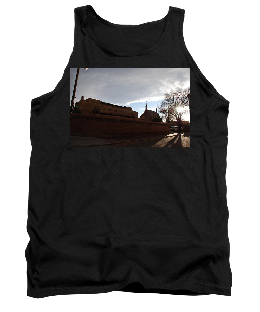 New Mexico Tank Top featuring the photograph Sun Thru The Trees by Rob Hans