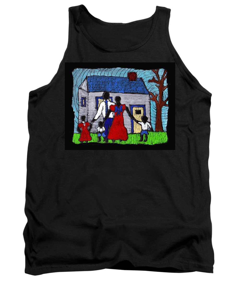 Family Tank Top featuring the painting Sunday Morning Finest by Wayne Potrafka