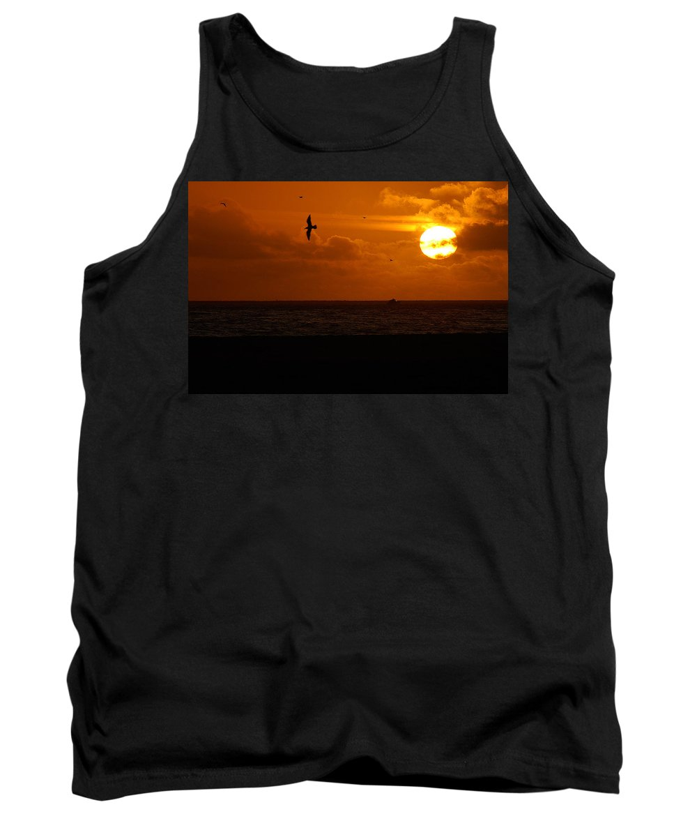 Clay Tank Top featuring the photograph Sundown Flight by Clayton Bruster