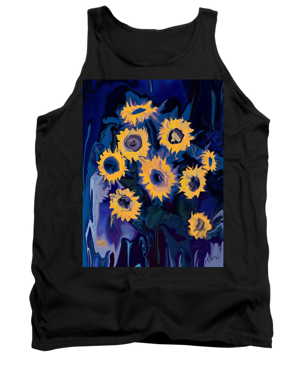 Art Tank Top featuring the digital art Sunflower 1 by Rabi Khan