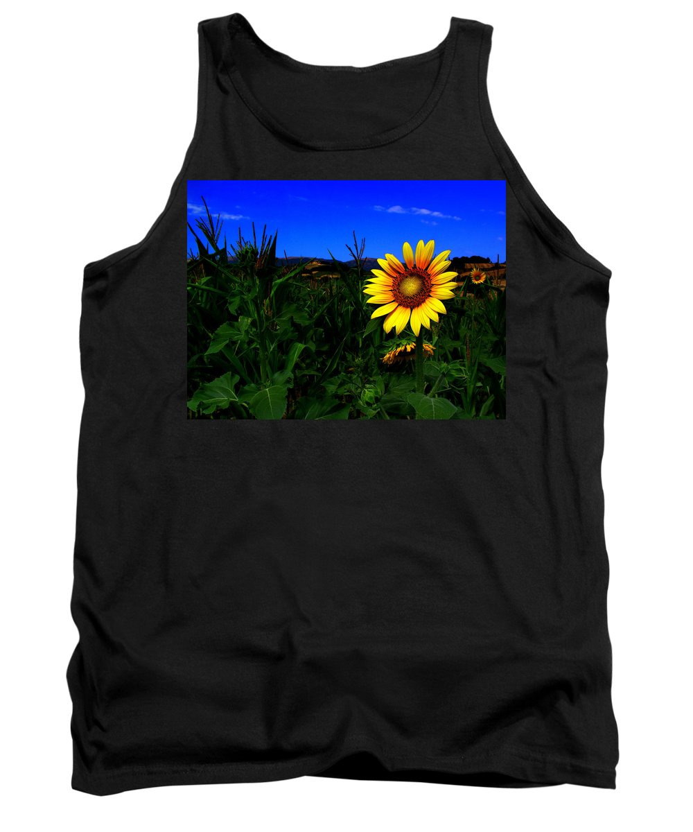Flower Tank Top featuring the photograph Sunflower by Silvia Ganora