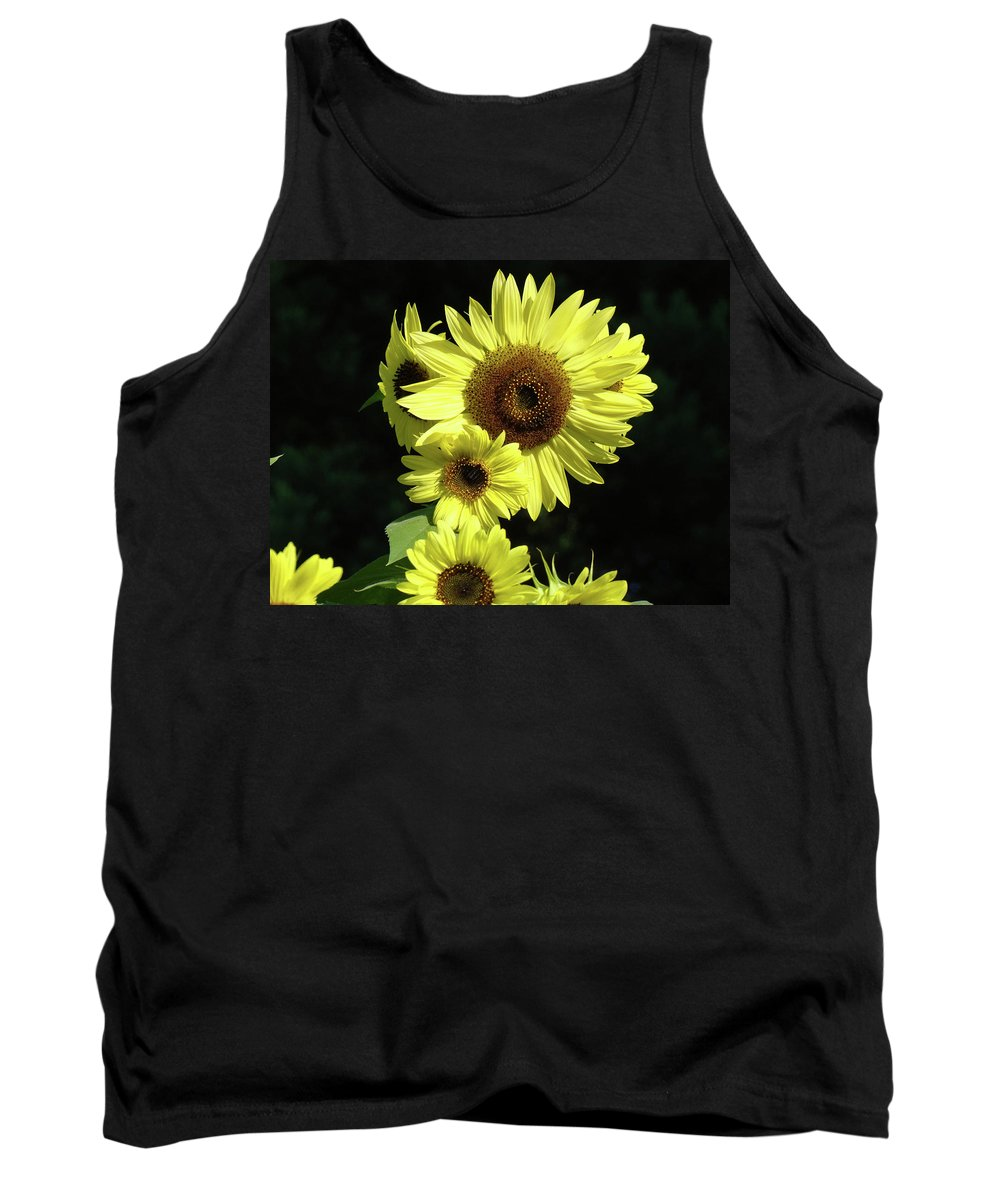 Sunflower Tank Top featuring the photograph Sunflowers Art Yellow Sun Flowers Giclee Prints Baslee Troutman by Baslee Troutman