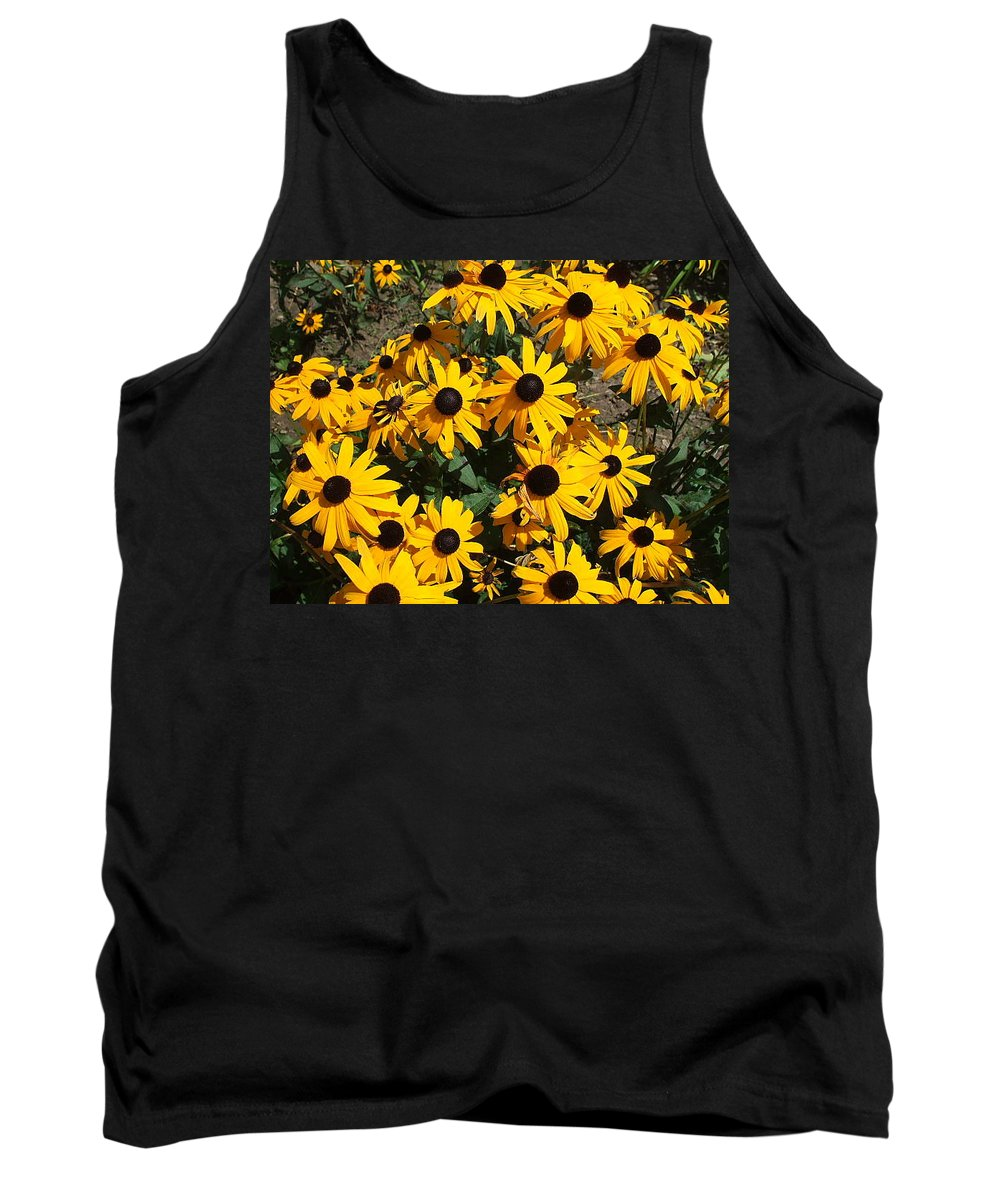 Landscape Tank Top featuring the photograph Sunflowers by Jo Dawkins
