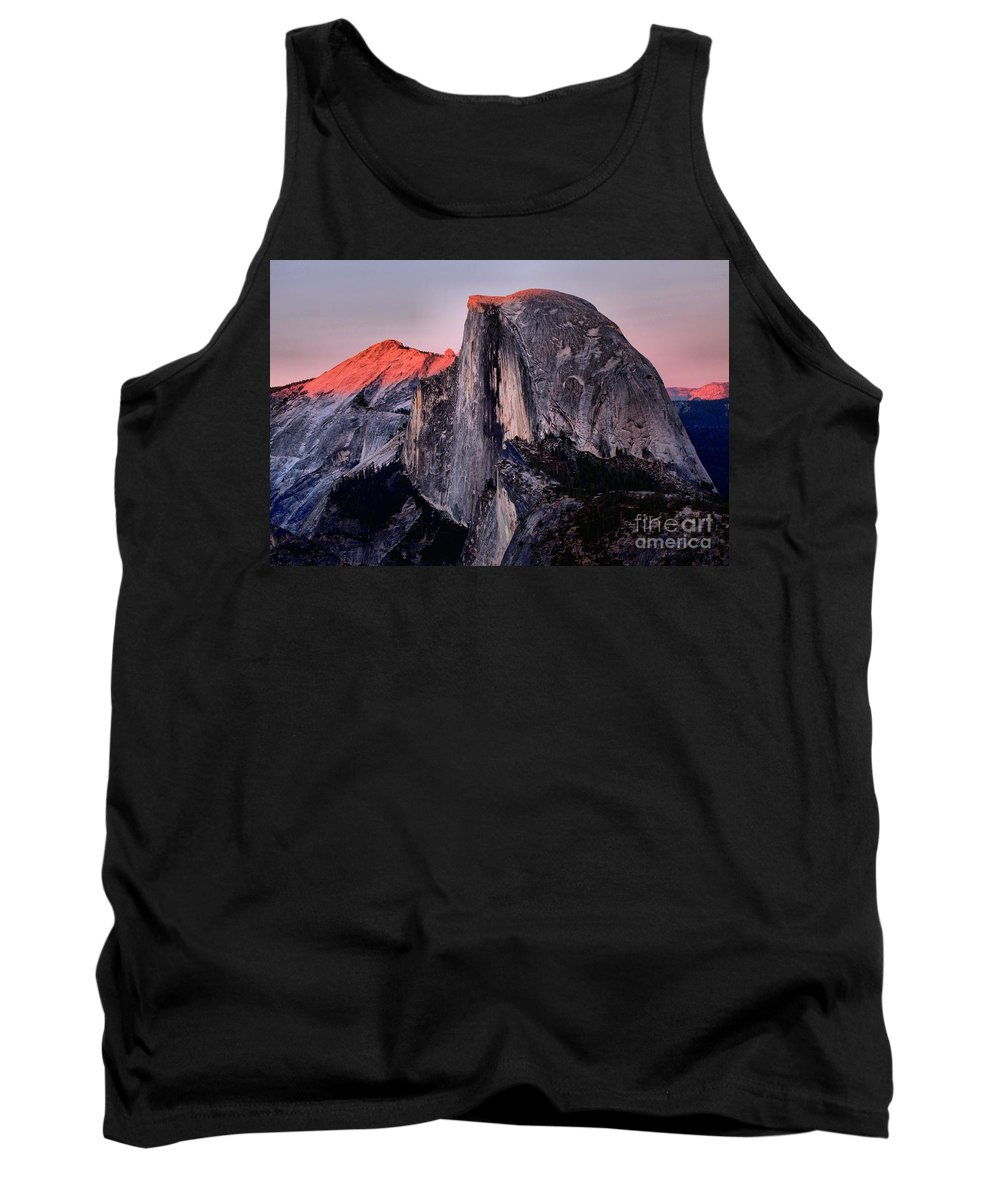 Half Dome Tank Top featuring the photograph Sunkiss On Half Dome by Adam Jewell
