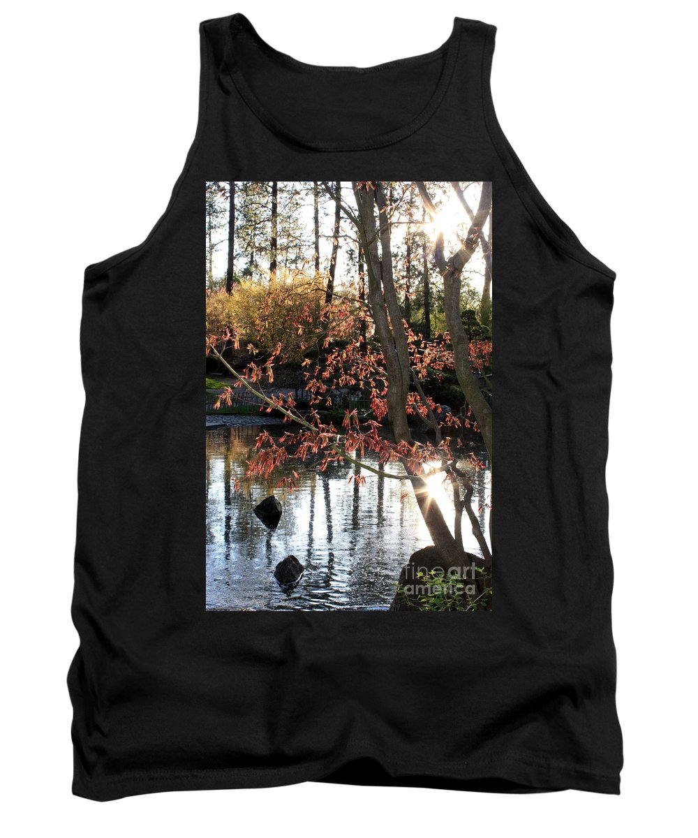 Maple Tree Tank Top featuring the photograph Sunlight Through Japanese Maple by Carol Groenen