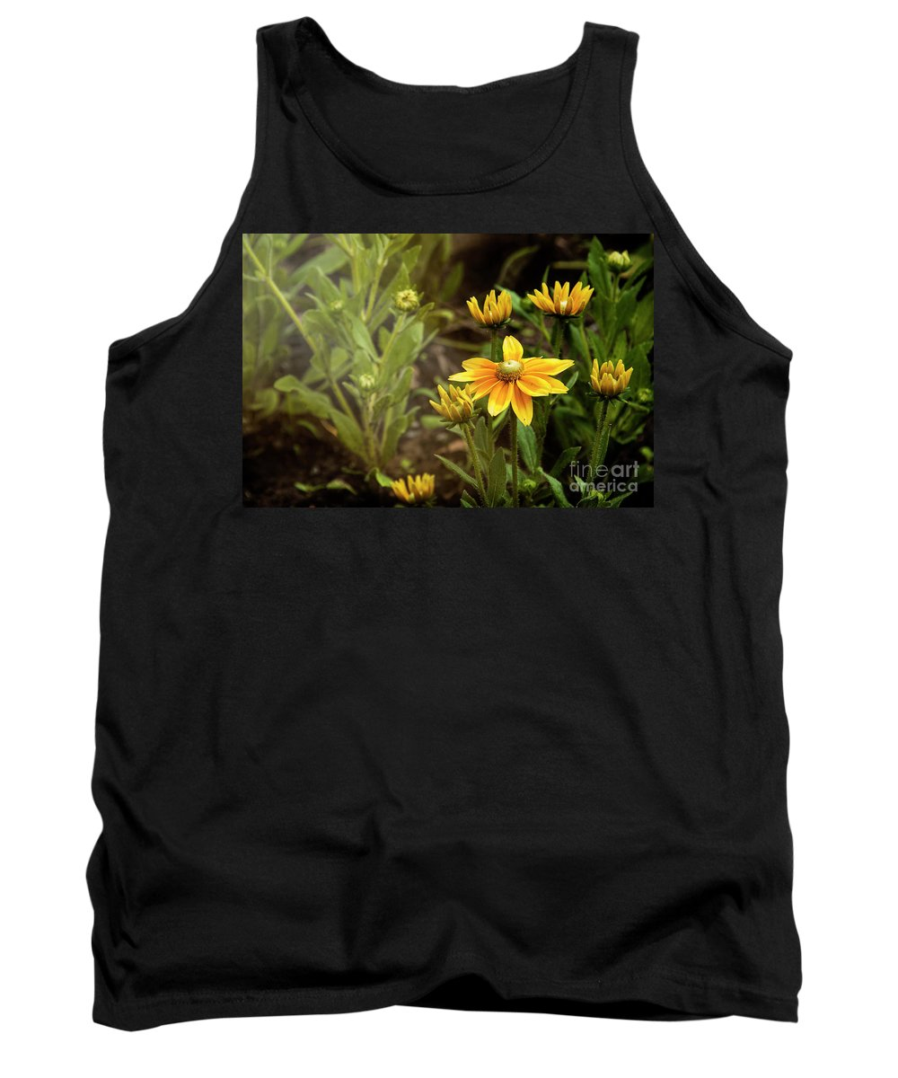 Bloom Tank Top featuring the photograph Sunny Day by Audrey Wilkie