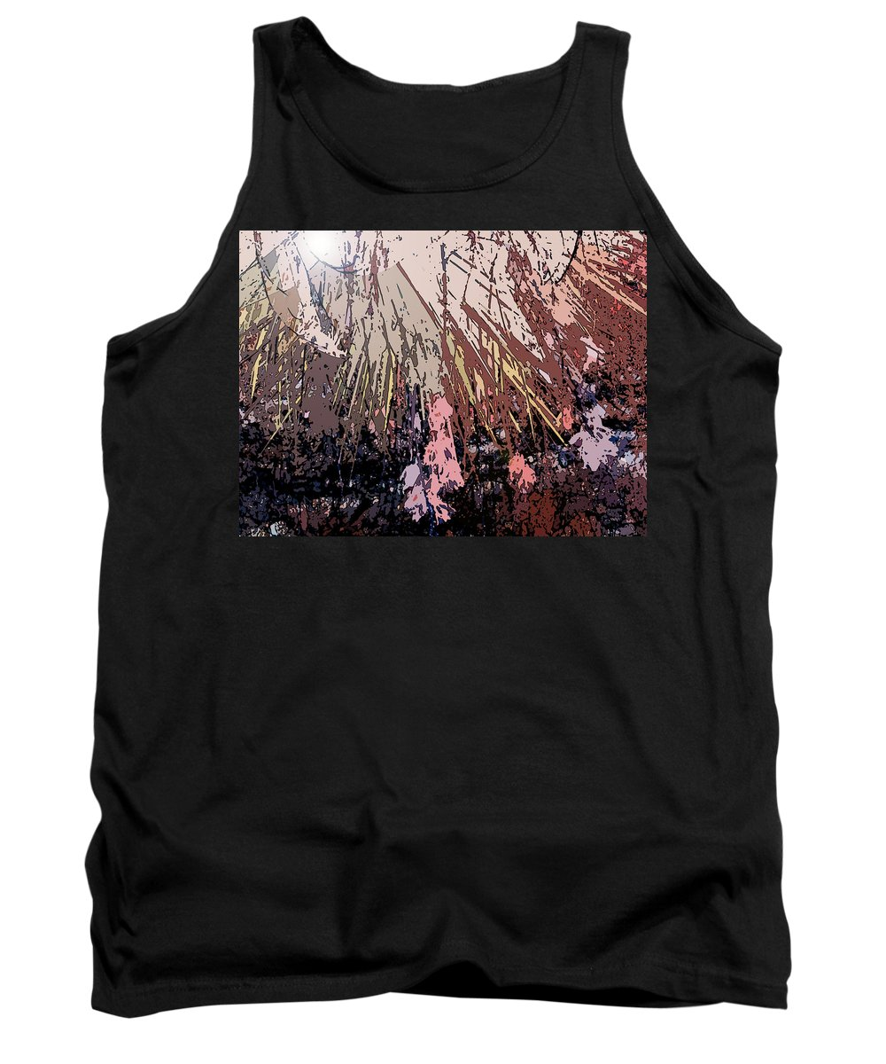 Abstract Tank Top featuring the digital art Sunrays by Lenore Senior
