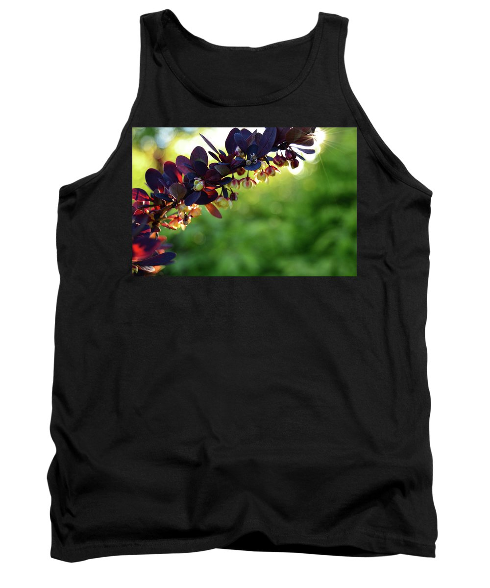 Flowers Tank Top featuring the photograph Sunrays With Blooms by Lindy Schuebert