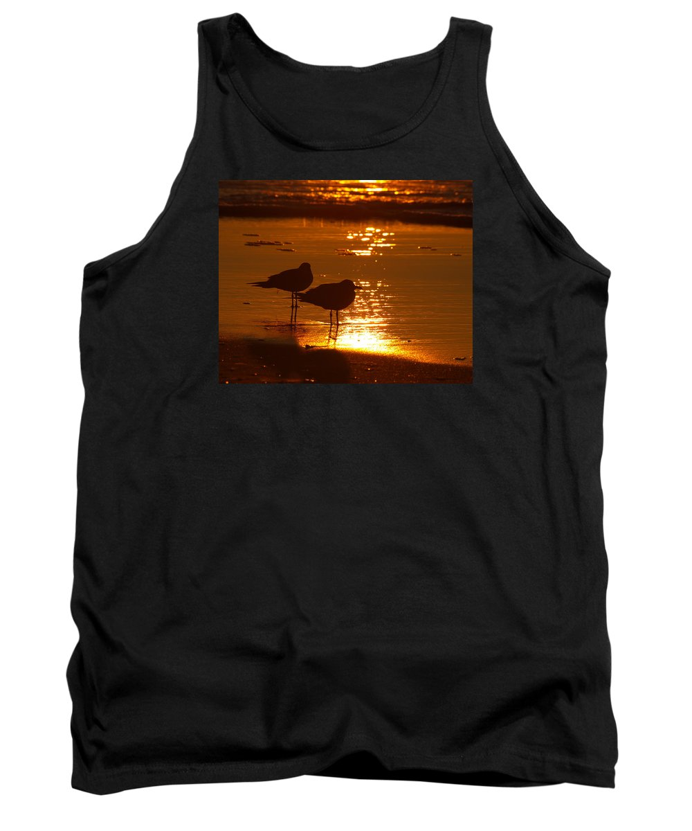 North Carolina Tank Top featuring the photograph Sunrise Beach Breakfast by Don Keisling