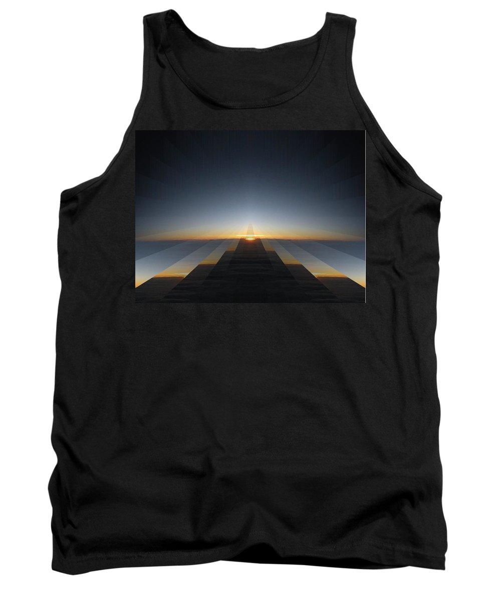 Sunrise Tank Top featuring the digital art Sunrise From 30k 3 by Tim Allen