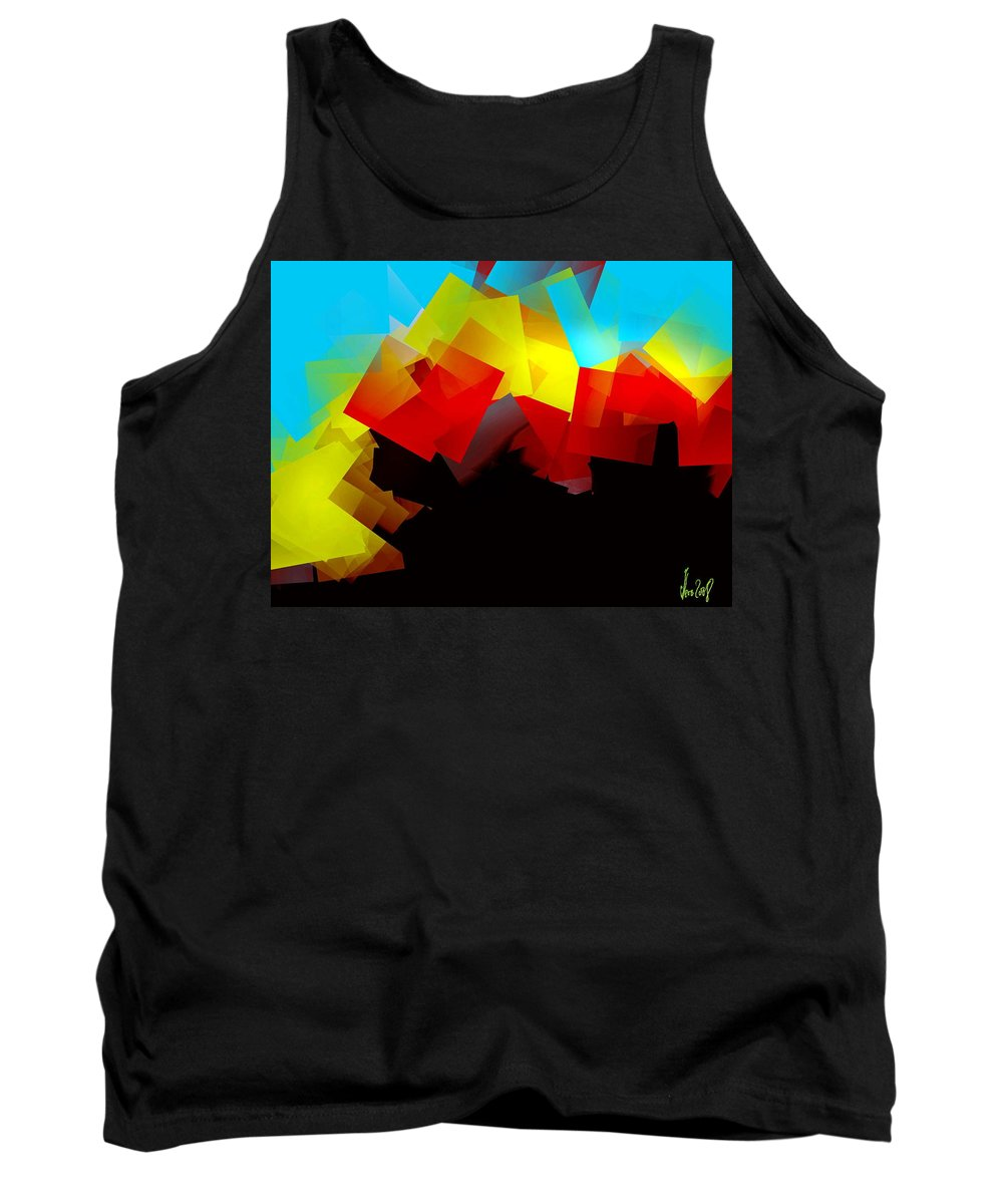 Sunrise Tank Top featuring the digital art Sunrise by Helmut Rottler