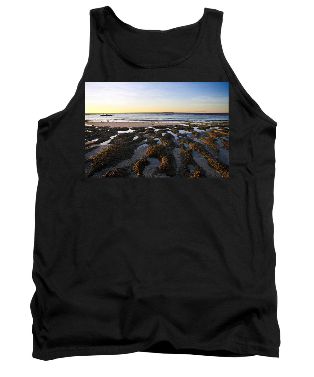 Nature Tank Top featuring the photograph Sunrise In Bohol by George Cabig