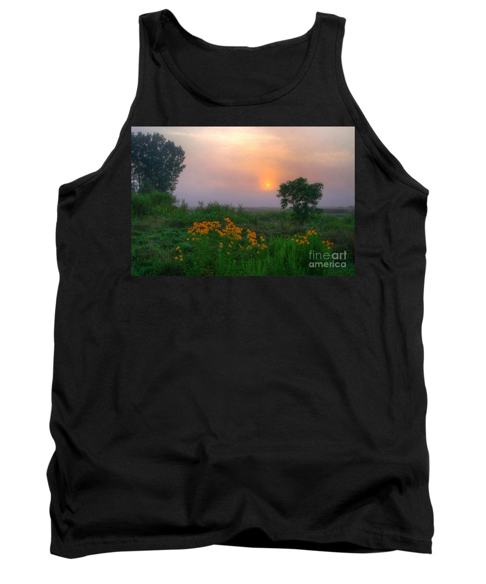 Swamp Tank Top featuring the photograph Sunrise In The Swamp-2 by Robert Pearson