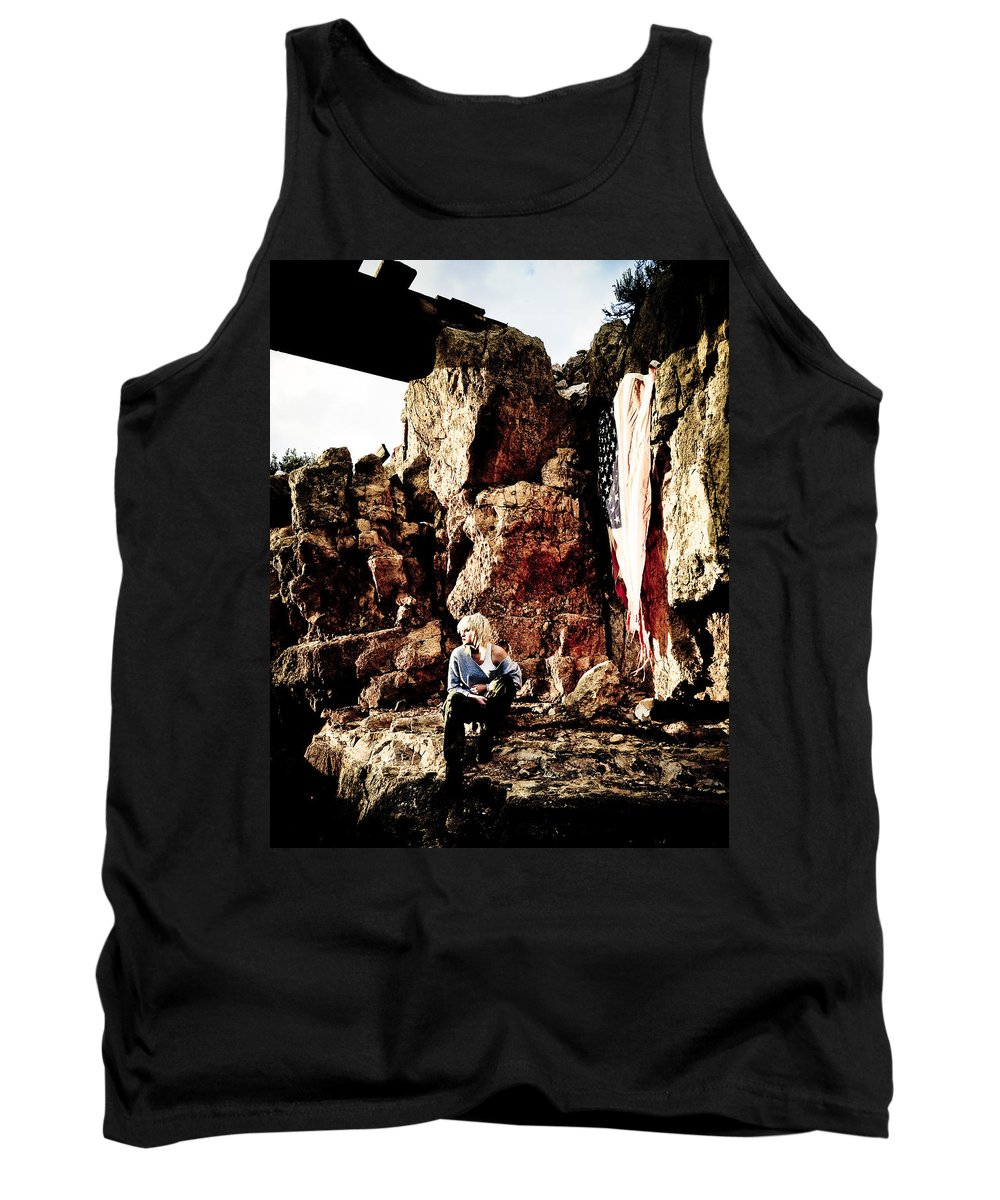 American Flag Tank Top featuring the photograph Sunrise Or Sunset by Scott Sawyer
