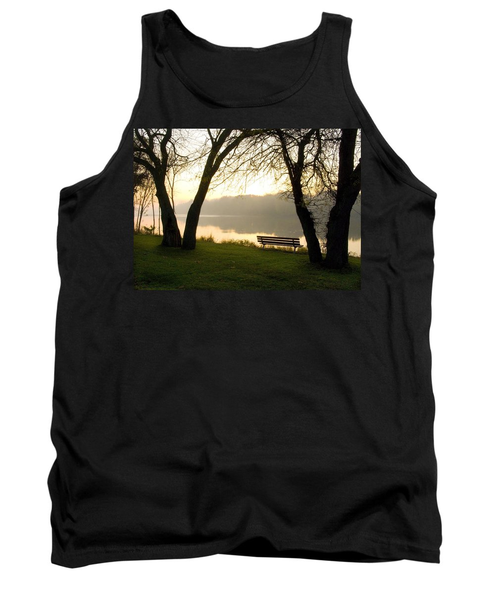Sunrise Tank Top featuring the photograph Sunrise Over The Maumee by Jeffery Ball