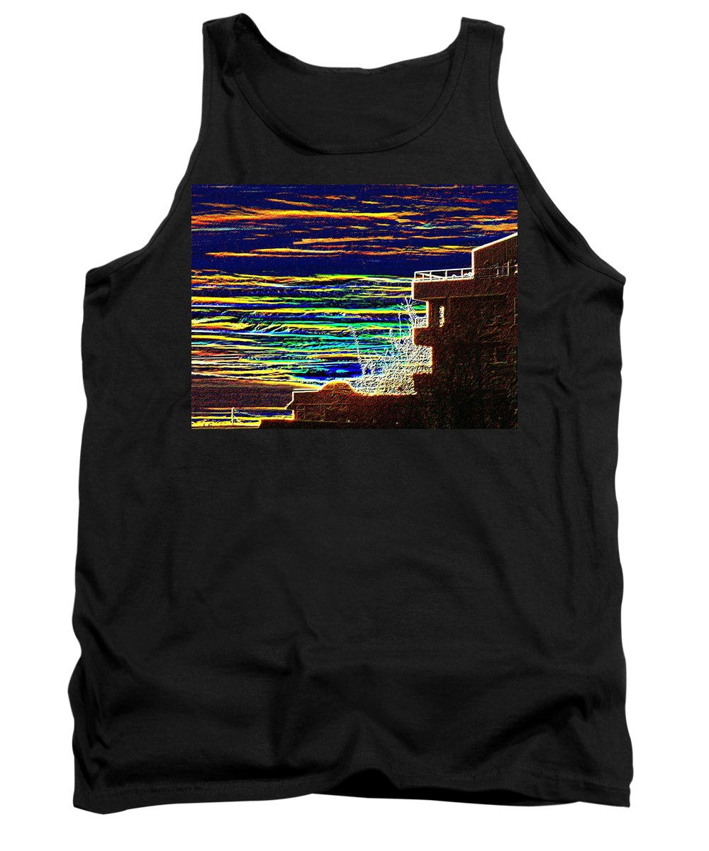 Seattle Tank Top featuring the digital art Sunset 1 by Tim Allen