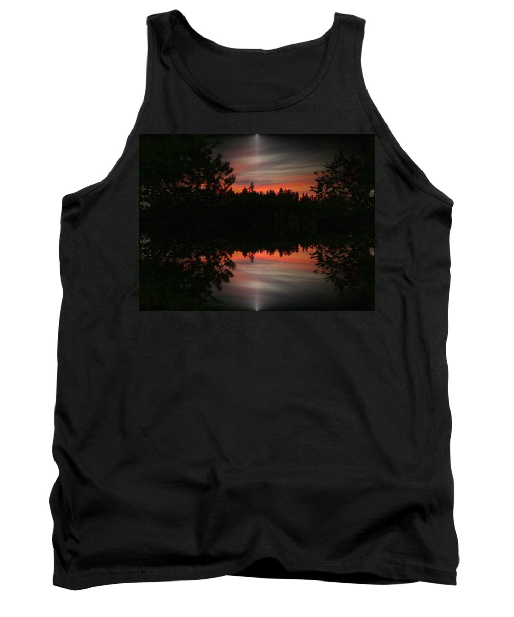 Sunset Tank Top featuring the photograph Sunset 4 by Tim Allen