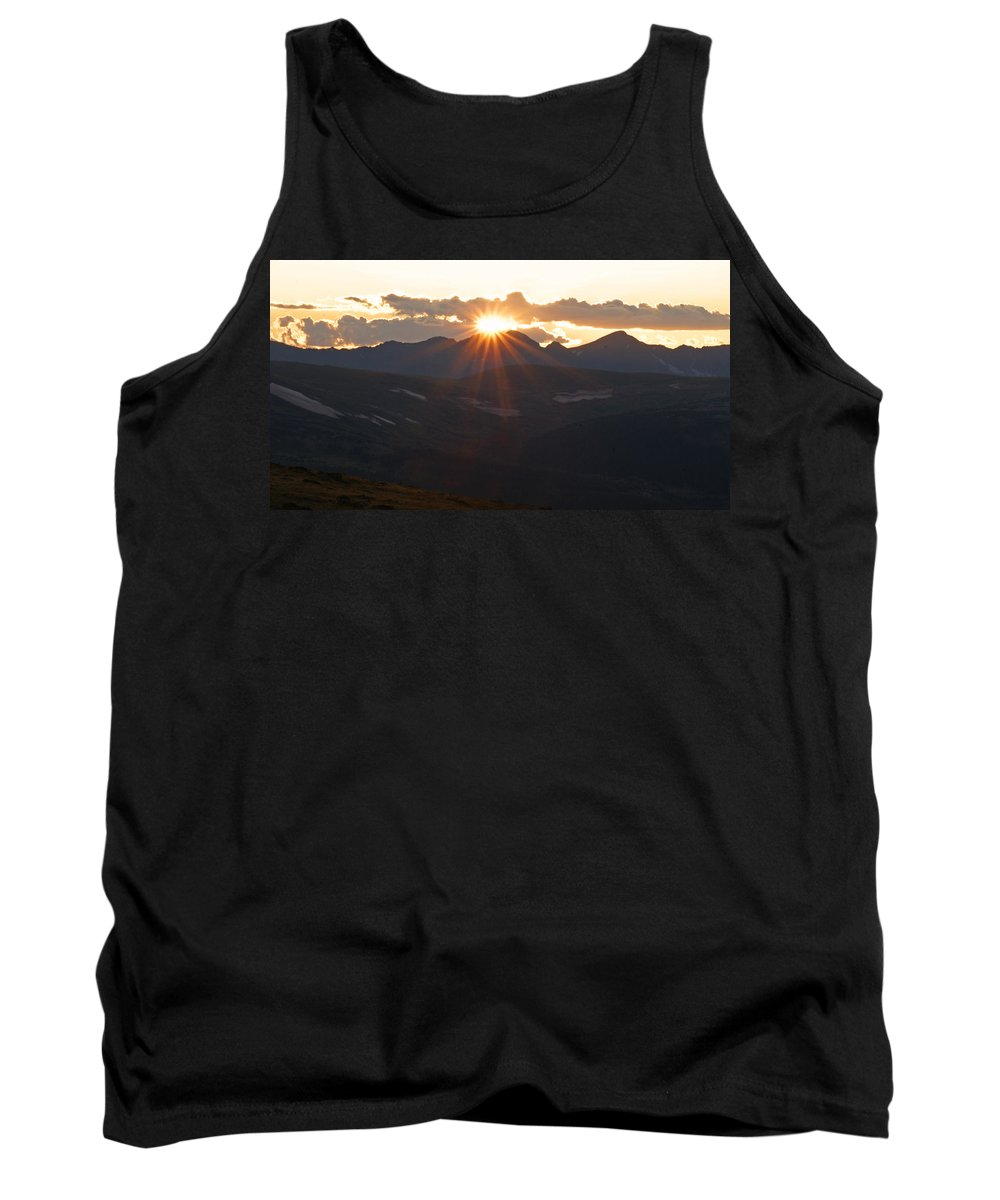 Sunset Tank Top featuring the photograph Sunset At 12.000 Feet by Heather Coen