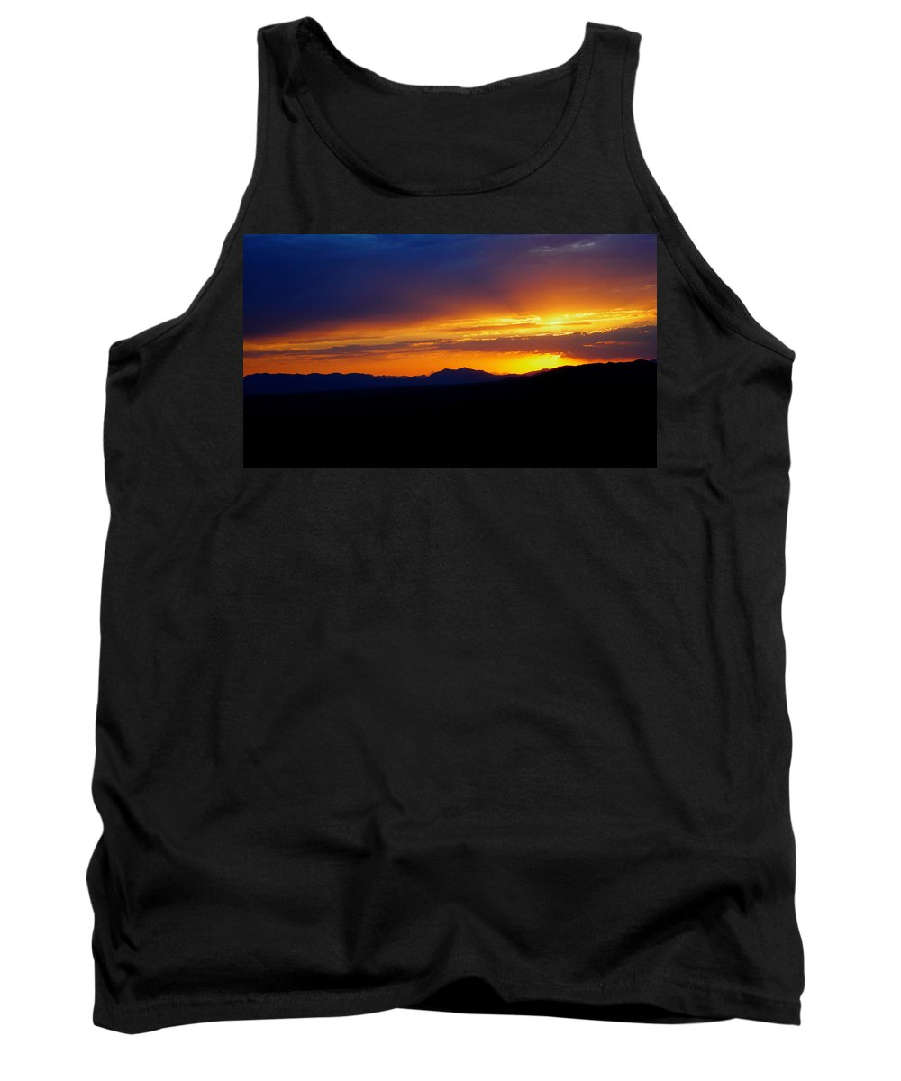 Sunset Tank Top featuring the photograph Sunset At Coronado National Memorial by Charlene Mitchell