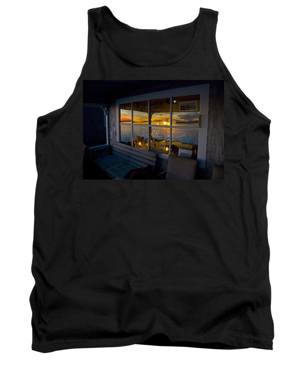 Sunset Tank Top featuring the photograph Sunset At Fletchers Camp by Charles Harden