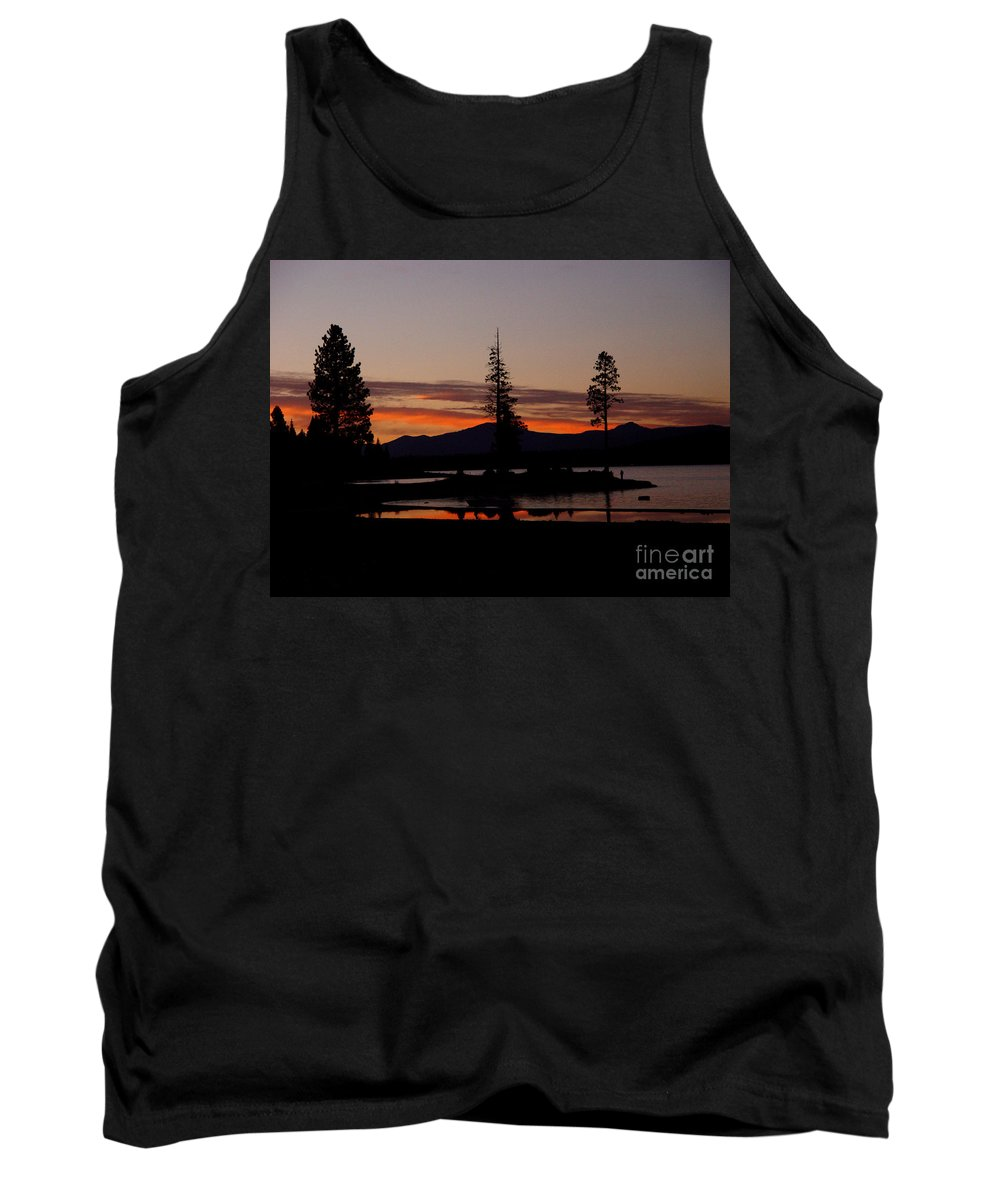 Lake Almanor Tank Top featuring the photograph Sunset At Lake Almanor 02 by Peter Piatt