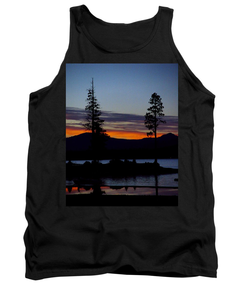 Lake Almanor Tank Top featuring the photograph Sunset At Lake Almanor by Peter Piatt