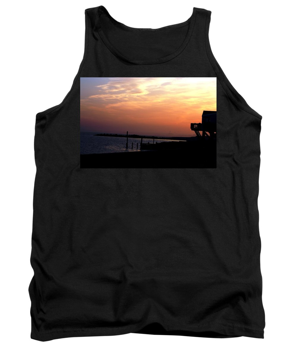Sunset Tank Top featuring the photograph Sunset At Lordship Beach by Donna Walsh