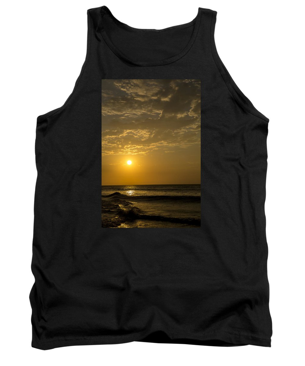 Beach Tank Top featuring the photograph Sunset At Pacasmayo Beach 2 by Mario Colan