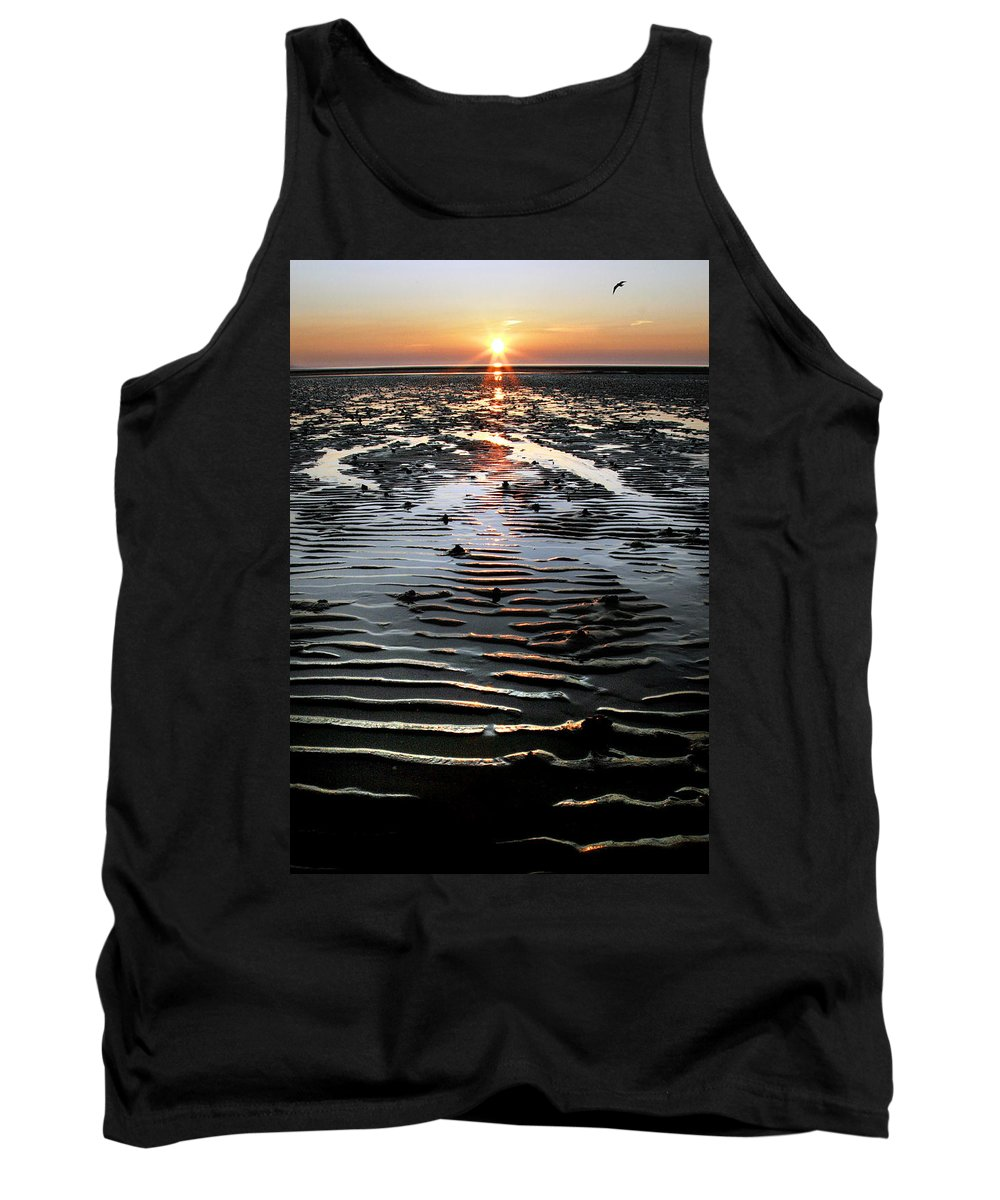 Sunset Tank Top featuring the photograph Sunset At The West Shore Llandudno by Mal Bray