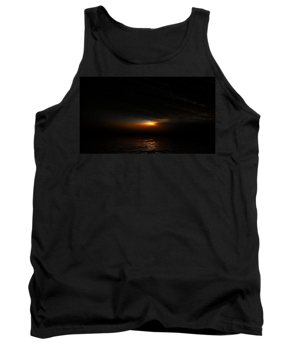 Digital Painting Tank Top featuring the digital art Sunset by David Lane