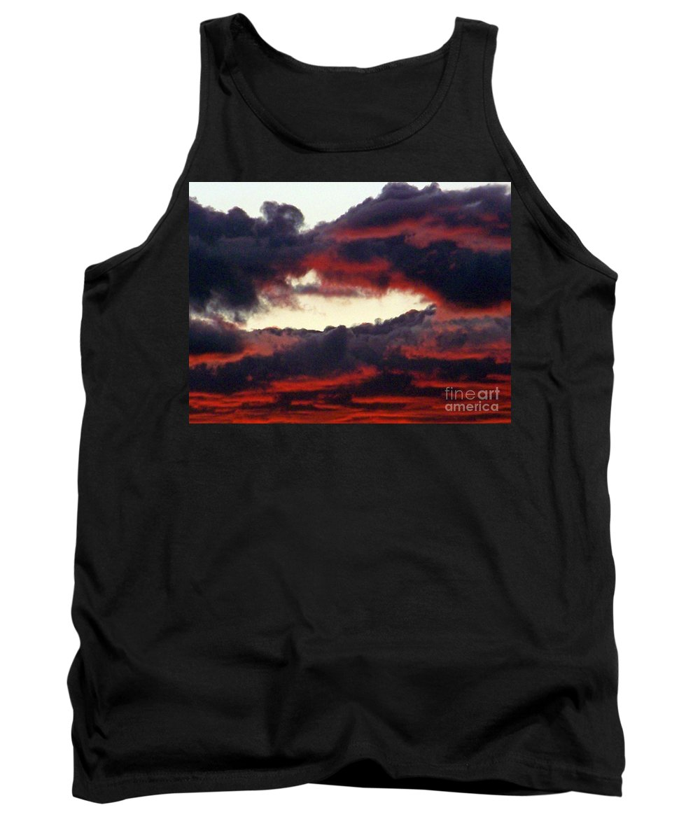 Sunset Tank Top featuring the photograph Sunset Formation by Brian Commerford