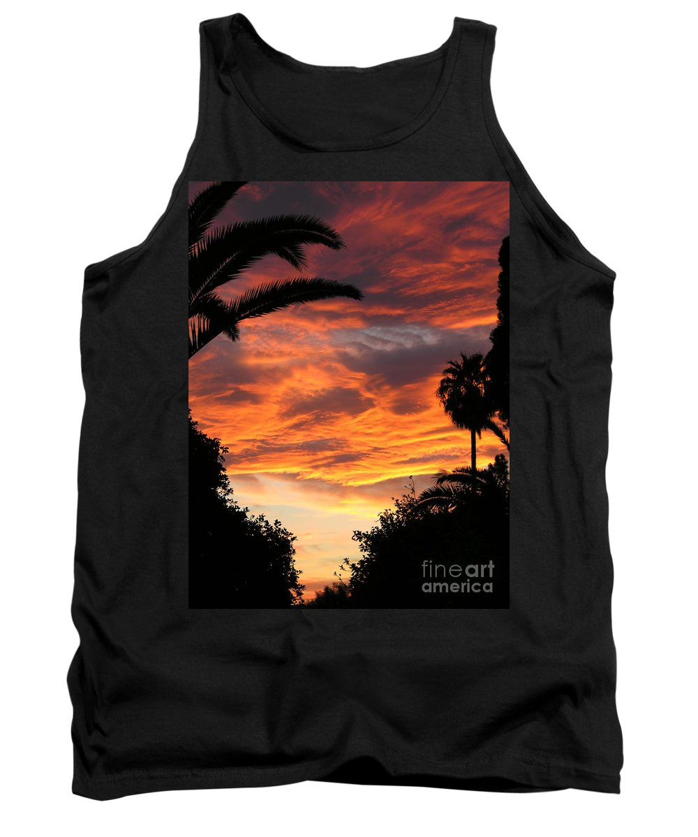 Sunset Tank Top featuring the photograph Sunset God's Fingers In Clouds by Diane Greco-Lesser