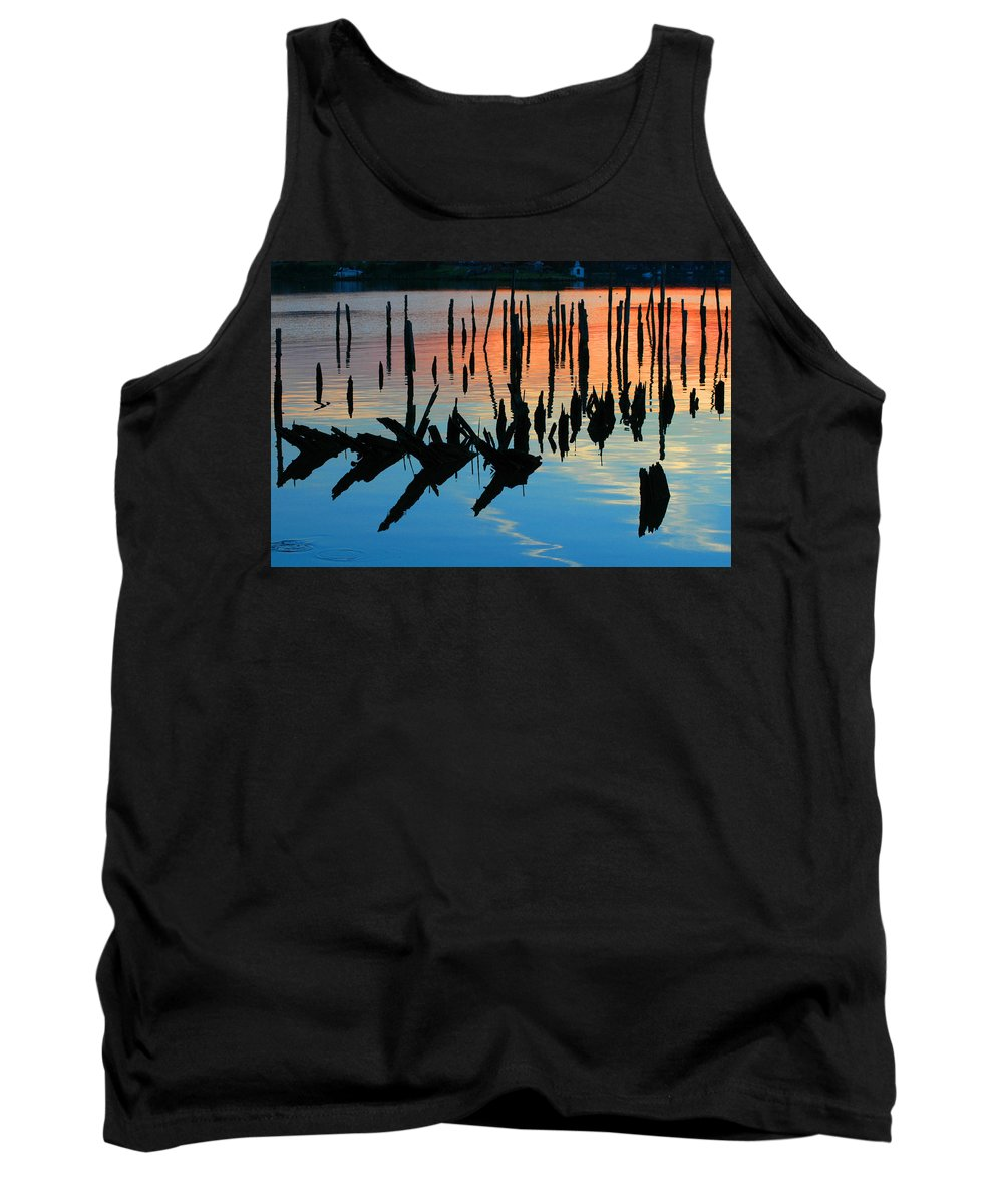 Clay Tank Top featuring the photograph Sunset In Colonial Beach Virginia by Clayton Bruster