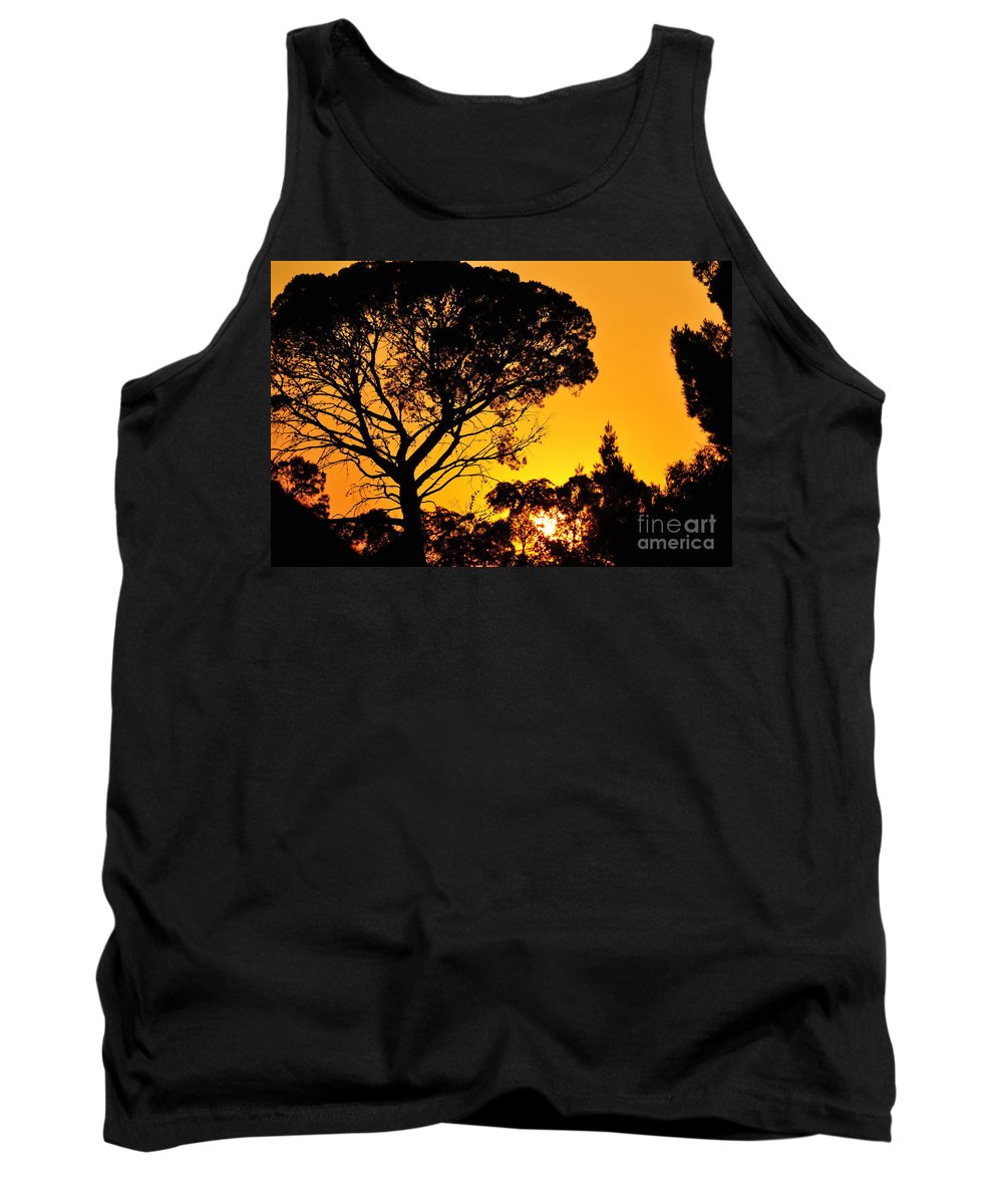 Clay Tank Top featuring the photograph Sunset In Tujunga by Clayton Bruster