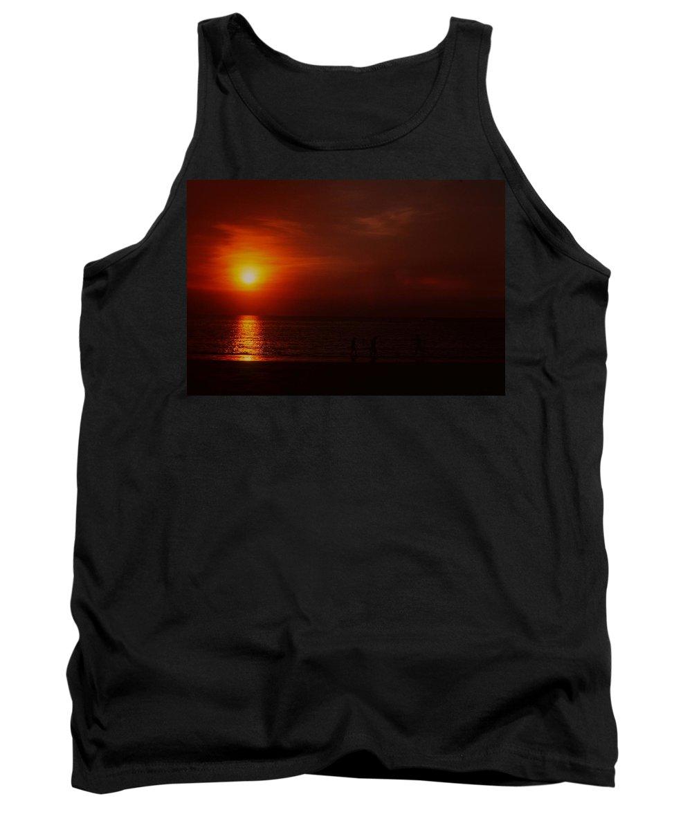 Sunset Tank Top featuring the photograph Sunset On Darwin Beach by Gary Wonning